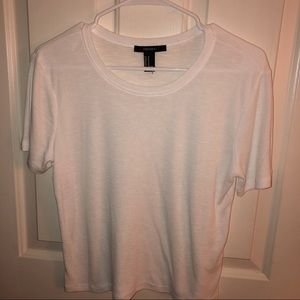 Forever 21 White ribbed t-shirt